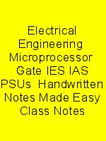 Electrical Engineering  Microprocessor  Gate IES IAS PSUs  Handwritten Notes Made Easy Class Notes N