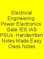 Electrical Engineering  Power Electronics  Gate IES IAS PSUs  Handwritten Notes Made Easy Class Notes N