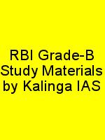RBI Grade-B Study Materials by Kalinga IAS N