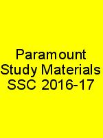Paramount Study Materials SSC 2016-17 N