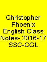 Christopher Phoenix English Class Notes- 2016-17 SSC-CGL N