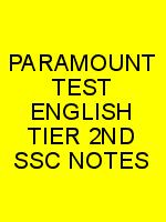 PARAMOUNT TEST ENGLISH TIER 2ND SSC NOTES N