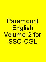 Paramount English Volume-2 for SSC-CGL N