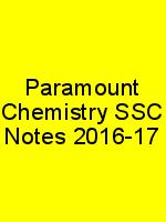 Paramount Chemistry SSC Notes 2016-17 N