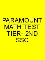 PARAMOUNT MATH TEST TIER- 2ND SSC N