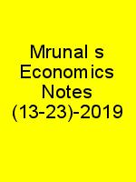 Mrunal's Economics Notes (13-23)-2019 N