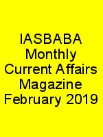 IASBABA Monthly Current Affairs Magazine February 2019 N