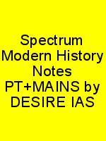 Spectrum Modern History Notes PT+MAINS by DESIRE IAS N