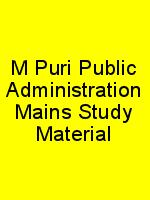 M Puri Public Administration Mains Study Material N