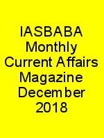 IASBABA Monthly Current Affairs Magazine December 2018 N
