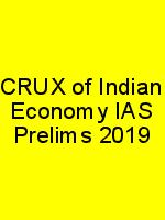 CRUX of Indian Economy IAS Prelims 2019 N