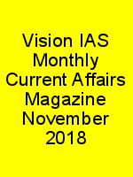 Vision IAS Monthly Current Affairs Magazine November 2018 N