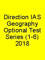 Direction IAS Geography Optional Test Series (1-6) 2018 N