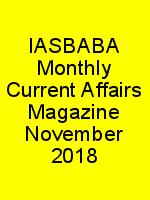 IASBABA Monthly Current Affairs Magazine November 2018 N