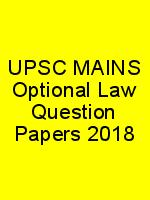 UPSC MAINS Optional Law Question Papers 2018 N