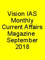 Vision IAS Monthly Current Affairs Magazine  September 2018 N