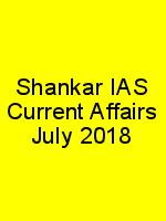 Shankar IAS Current Affairs July 2018 N