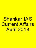 Shankar IAS Current Affairs April 2018 N