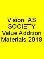 Vision IAS SOCIETY Value Addition Materials 2018 N