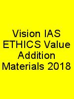 Vision IAS ETHICS Value Addition Materials 2018 N