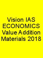 Vision IAS ECONOMICS Value Addition Materials 2018 N
