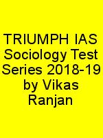 TRIUMPH IAS Sociology Test Series 2018-19 by Vikas Ranjan N