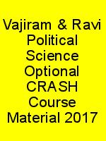Vajiram & Ravi Political Science Optional CRASH Course Material 2017 N