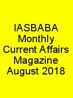 IASBABA Monthly Current Affairs Magazine August 2018 N