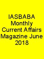 IASBABA Monthly Current Affairs Magazine June 2018 N