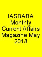 IASBABA Monthly Current Affairs Magazine May 2018 N