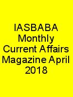IASBABA Monthly Current Affairs Magazine April 2018 N