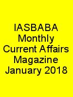 IASBABA Monthly Current Affairs Magazine January 2018 N