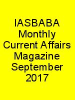 IASBABA Monthly Current Affairs Magazine September 2017 N