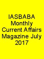 IASBABA Monthly Current Affairs Magazine July 2017 N