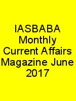 IASBABA Monthly Current Affairs Magazine June 2017 N