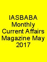 IASBABA Monthly Current Affairs Magazine May 2017 N