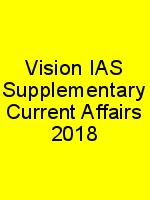 Vision IAS Supplementary Current Affairs 2018 N