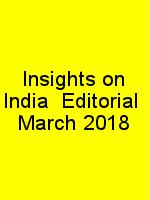 Insights on India  Editorial  March 2018 N
