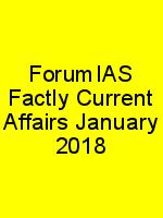 ForumIAS Factly Current Affairs January 2018 N
