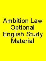 Ambition Law Optional English Study Material N