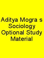 Aditya Mogra's Sociology Optional Study Material N