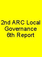 2nd ARC Local Governance 6th Report N