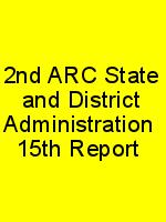 2nd ARC State and District Administration  15th Report N
