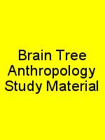 Brain Tree Anthropology Study Material N