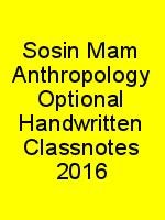 Sosin Mam Anthropology Optional Handwritten Classnotes 2016 N