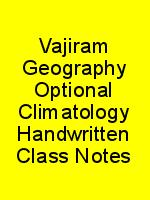 Vajiram Geography Optional Climatology Handwritten Class Notes N