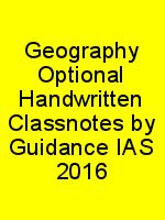 Geography Optional Handwritten Classnotes by Guidance IAS 2016 N