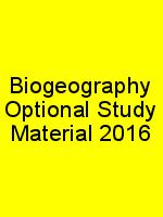 Biogeography Optional Study Material 2016 N