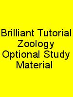 Brilliant Tutorial Zoology Optional Study Material N