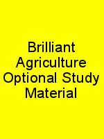 Brilliant Agriculture Optional Study Material N